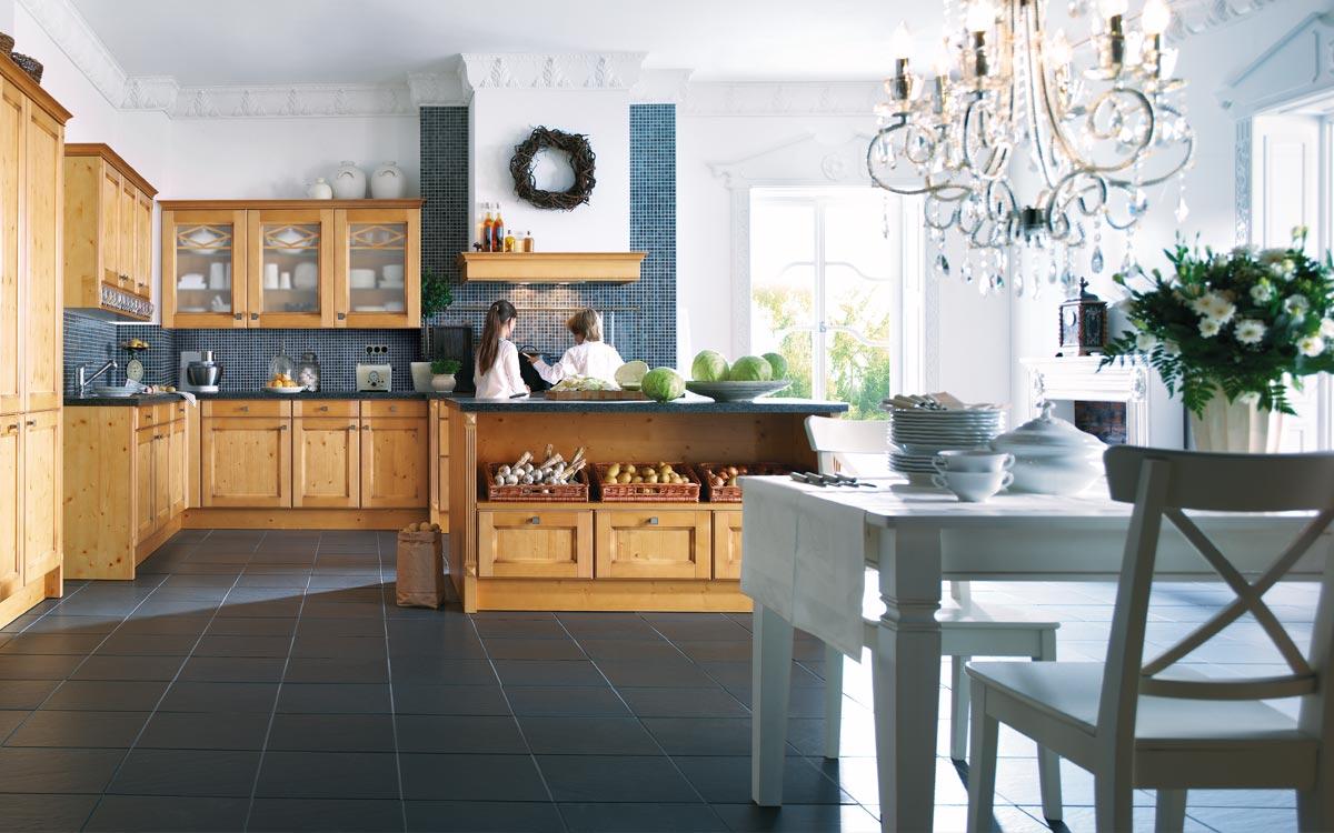 Einbauküche Landhaus in Eiche