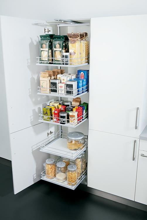 Küchen-Hochschrank mit ausziehbaren Böden